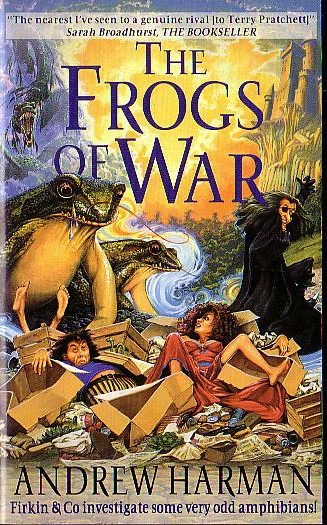 Andrew Harman  THE FROGS OF WAR front book cover image