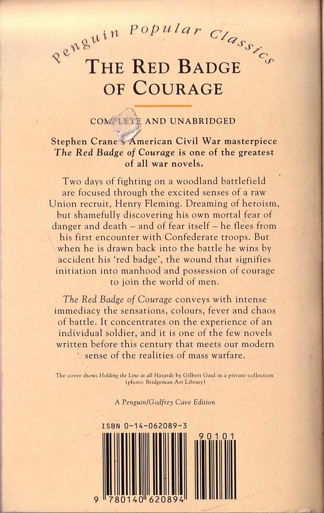 an analysis of symbolism in the red badge of courage by stephen crane These papers were written primarily by students and provide critical analysis of red badge of courage by stephen  red badge of courage by stephen crane.