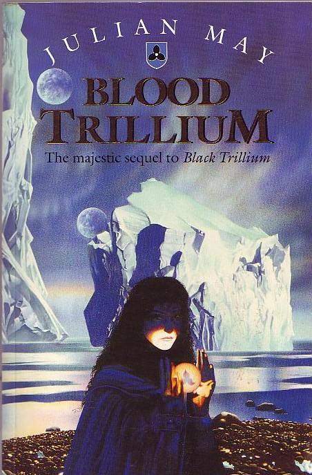 Book Covered In Blood : Julian may blood trillium book cover scans