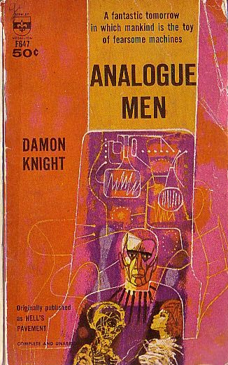 Book Cover Drawing List : Damon knight analogue men book cover scans
