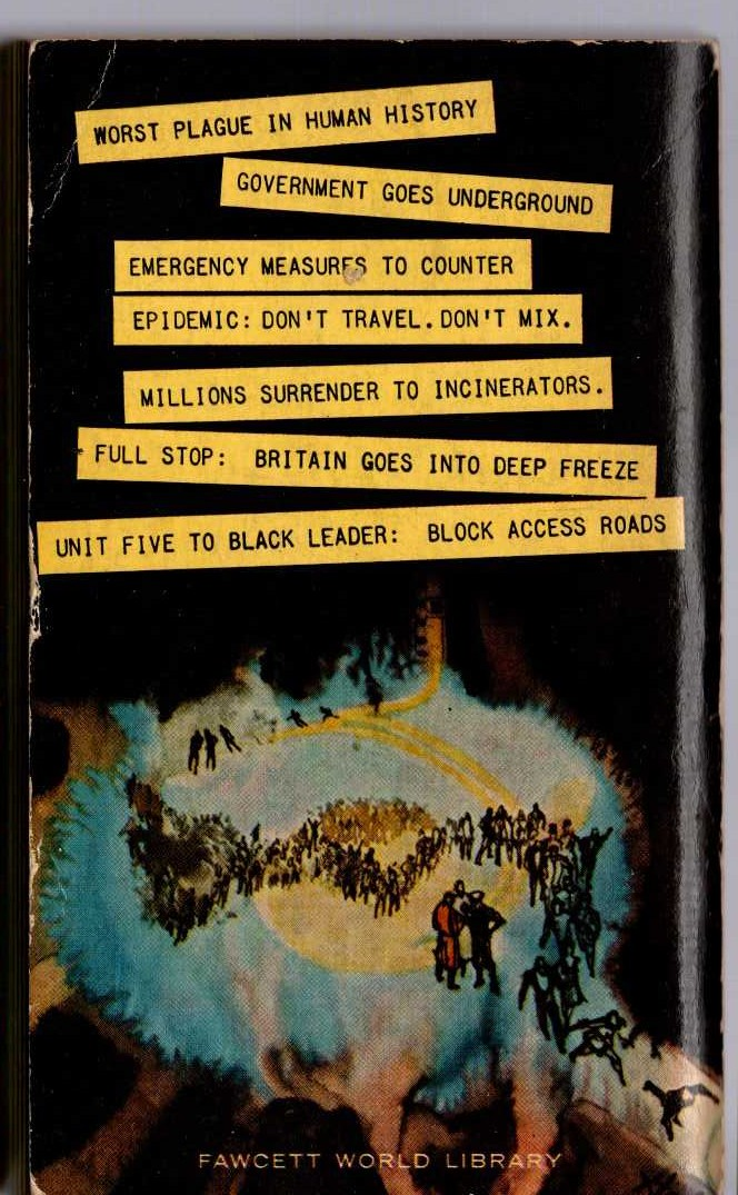 Dennis Wheatley  DESPERATE MEASURES magnified rear book cover image