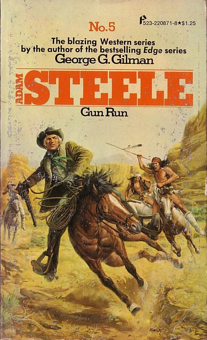 George G. Gilman  ADAM STEELE 5: GUN RUN front book cover image